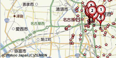 名古屋毛皮買取比較地図