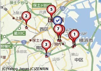 横浜毛皮買取会社地図画像